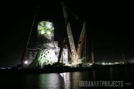 Beacon Construction by night