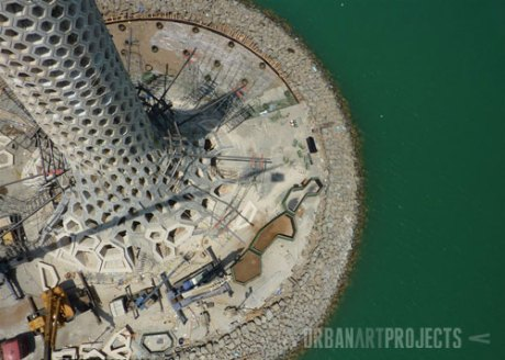 KAUST Beacon Construction Progress: View from above